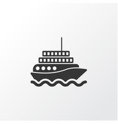 Motor ship icon symbol premium quality isolated vector