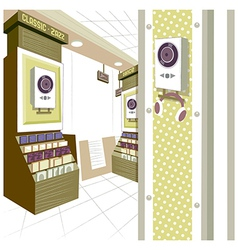 Music Shop Interior vector