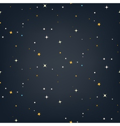 Night sky with stars seamless pattern vector image