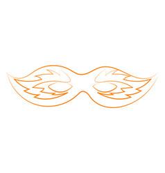 orange mask drawing on white background vector image