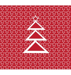 red and white tree vector image