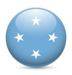 Round glossy icon micronesia vector