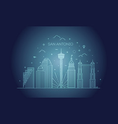san antonio city skyline background vector image