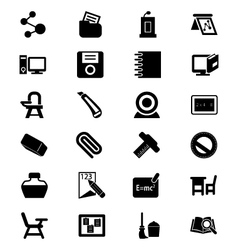 School and education icons 4 vector