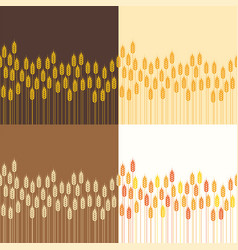 seamless repeating wheat or rye background vector image