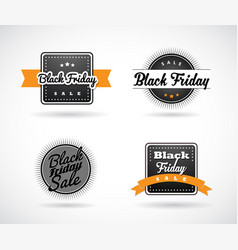 set of black friday hand made simple labels with vector image