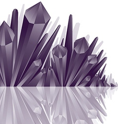 Set of monochromatic vertical chrome reflected vector