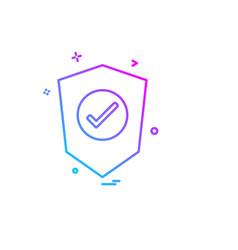 sheild icon design vector image