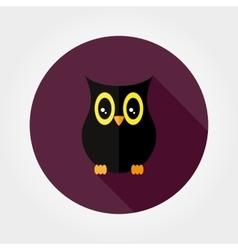 Silhouette owl Halloween vector