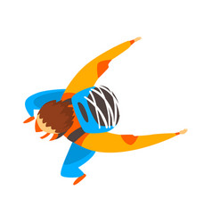 Skydiver man is in the free fall skydiving vector