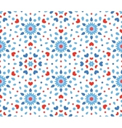 Small Blue and Red Flower Pattern vector image