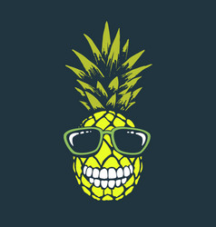 smiling funny pineapple vector image