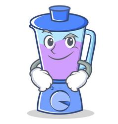 Smirking blender character cartoon style vector