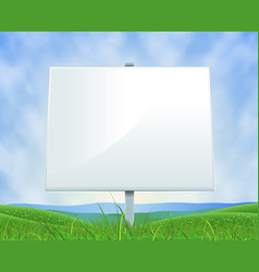 Spring or summer landscape white billboard vector