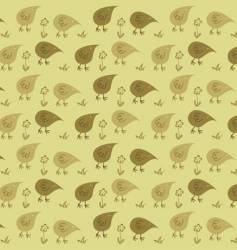 stylized chickens vector image