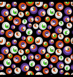 texture of human colorful eyeballs isolated on vector image