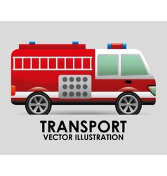 transport vehicle vector image vector image