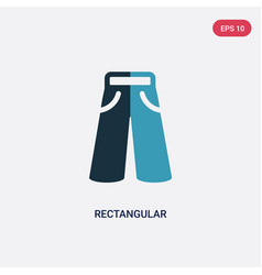 two color rectangular icon from woman clothing vector image