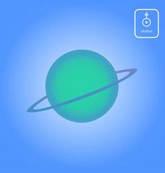 Uranus astrology planet vector