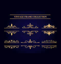 Vintage frame collection vector