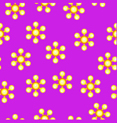 yellow spinner with balls on blades pattern vector image