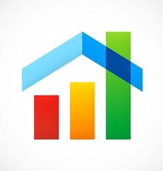 home design graph sold construction logo vector image