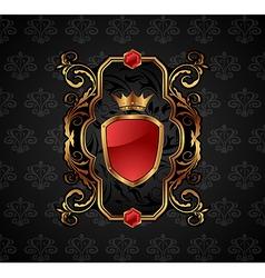 ornate decorative golden frame - vector image vector image