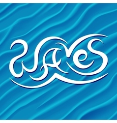 Abstract Design Background of Blue Waves vector image vector image