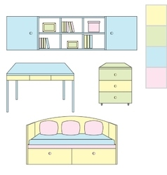 Icons kids room vector image