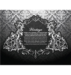 baroque floral ornament vector image