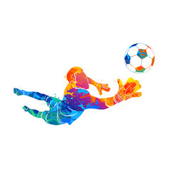 goalkeeper ball abstract vector image vector image