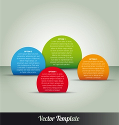 Options tab page template vector image
