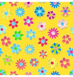 Seamless pattern of paper flowers vector image vector image