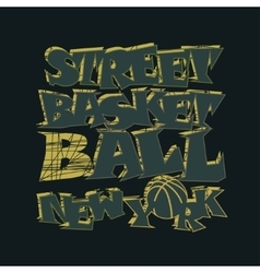 Basketball t-shirt graphic design New York vector image