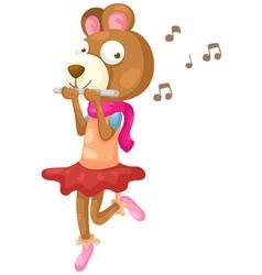 bear music vector image vector image