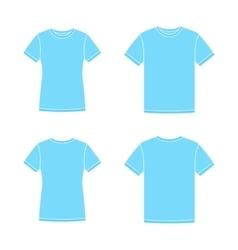 Blue short sleeve t-shirts templates vector image