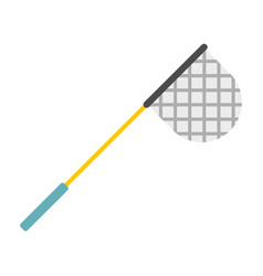 fishing net icon flat style vector image