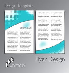 Flyer Design vector image vector image