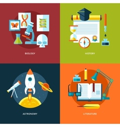 School and education icons set for web design and vector