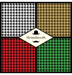 Set of houndstooth check patterns vector image
