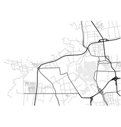 Abstract city map in black and white vector