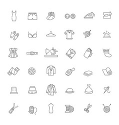 accessories and supplies for tailor studio vector image