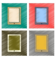 Assembly flat shading style icon tablet gadget vector