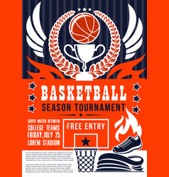 basketball game season tournament vector image