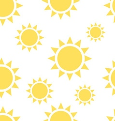Beautiful suns seamless pattern vector image