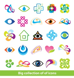 big collection of icons vector image