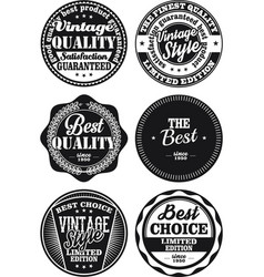 black and white vintage labels collection 1 vector image