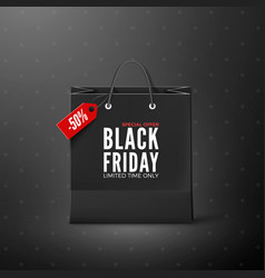 black friday black friday banner template black vector image