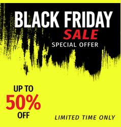 Black friday sale banner invitation in grunge vector