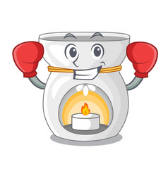 Boxing aroma lamp in a cartoon versions vector